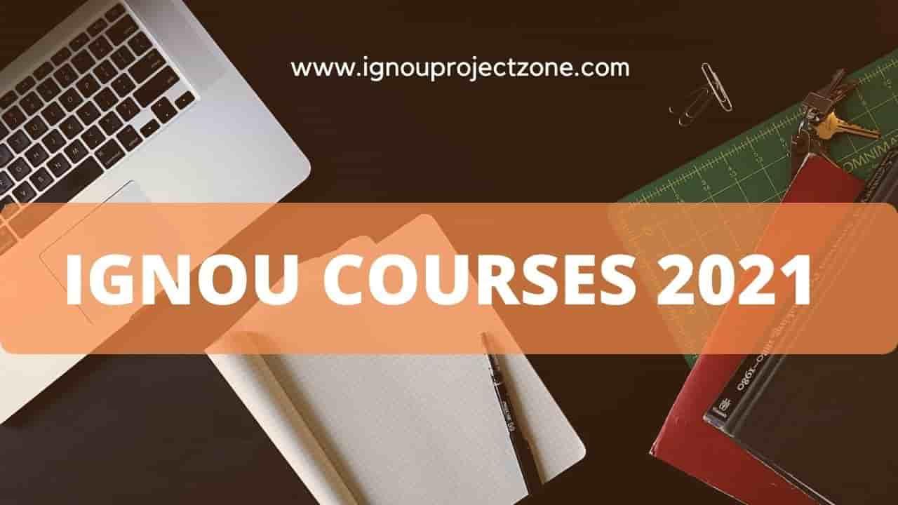 IGNOU Courses 2021 – List