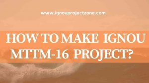HOW TO WRITE IGNOU MTTM PROJECT REPORT?