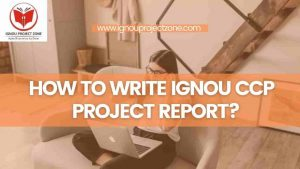 Read more about the article HOW TO WRITE IGNOU CCP PROJECT REPORT ?